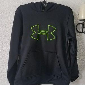 Kids Under Armour fleece big logo pullover